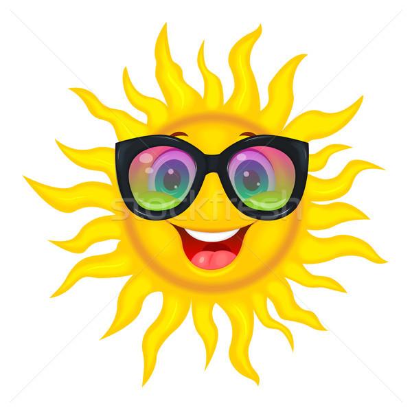 太陽 虹 眼鏡 陽気な 漫画 ストックフォト © liolle