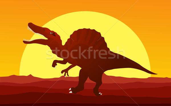 Dinosaur background 4 Stock photo © lirch