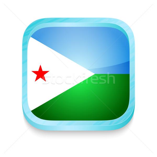 Przycisk Dżibuti banderą telefonu ramki Zdjęcia stock © lirch