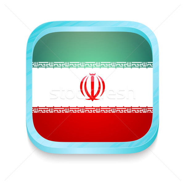 Smart phone button with Iran flag Stock photo © lirch