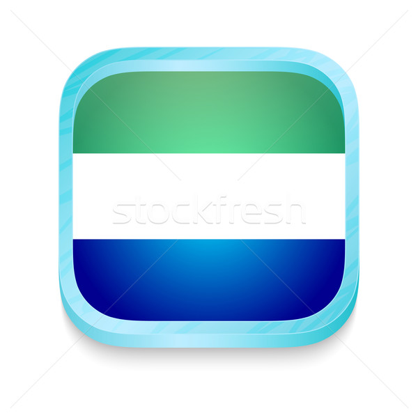Stock photo: Smart phone button with Sierra Leone flag