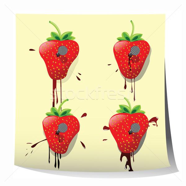 Strawberry design Stock photo © lirch