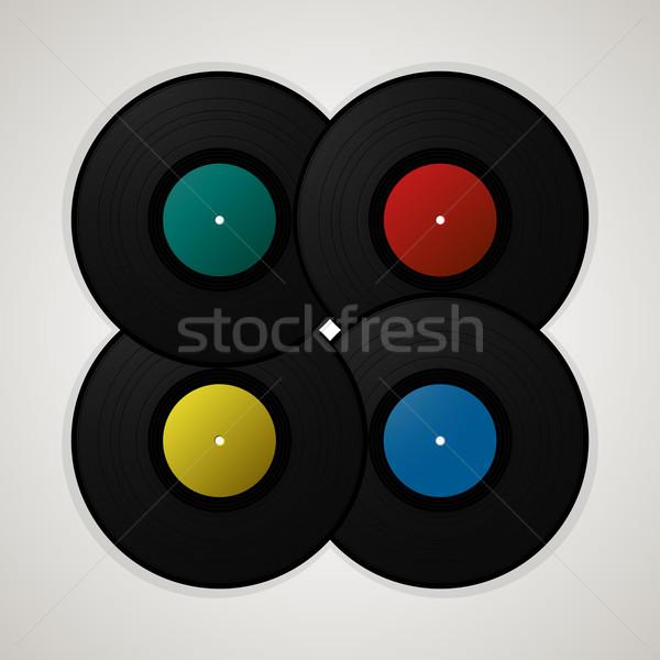 Musical sjabloon decoratief vintage vinyl Stockfoto © lirch