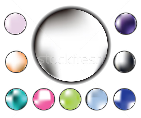 glossy radial buttons Stock photo © lirch