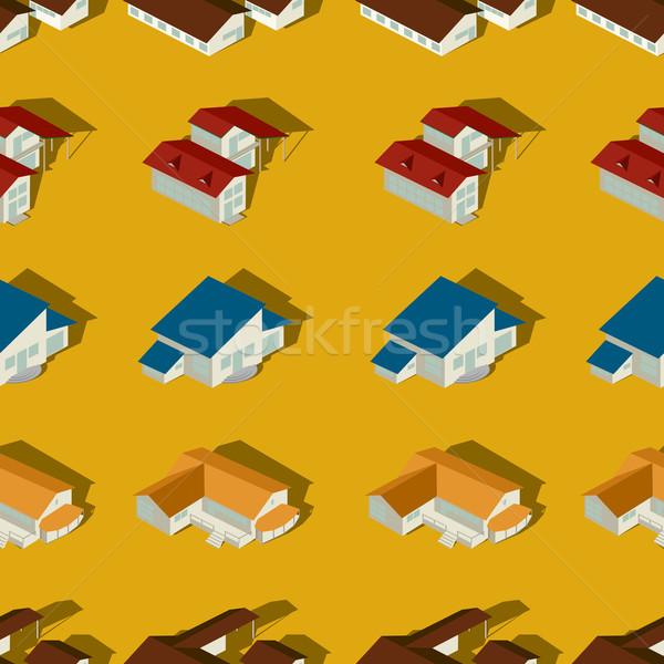 Suburban seamless pattern Stock photo © lirch