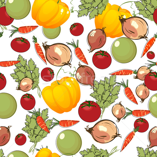 Vegetables pattern on white Stock photo © lirch