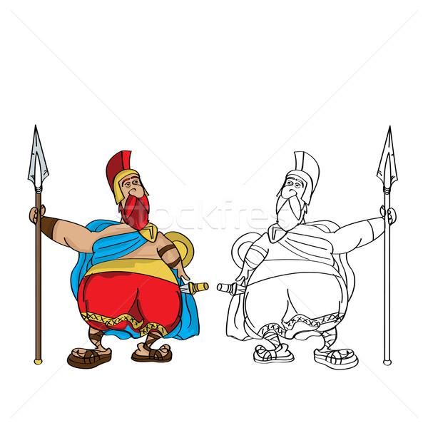 Fat Roman cartoon Stock photo © lirch