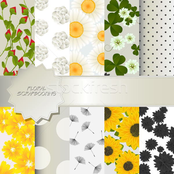 Floral scrapbooking Stock photo © lirch
