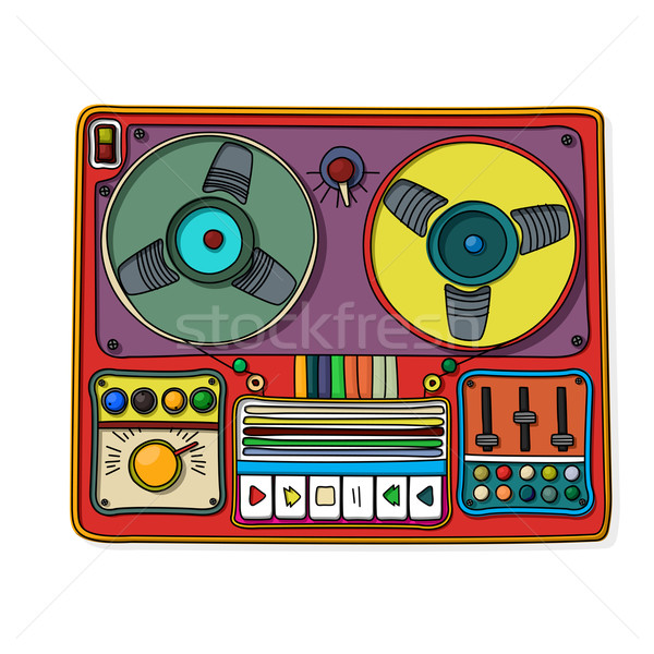 Magnetophone icon Stock photo © lirch