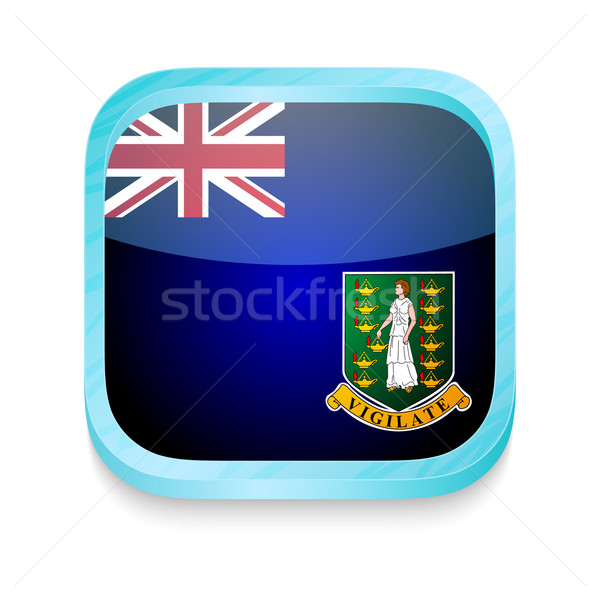 Smart phone button with British Virgin Islands flag Stock photo © lirch