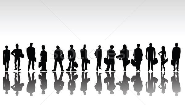Stylized business people silhouettes Stock photo © lirch