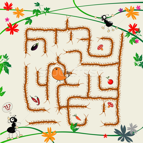 Compliqué labyrinthe cartoon art illustration drôle Photo stock © lirch