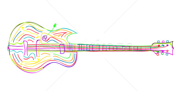 Electric guitar sketch Stock photo © lirch