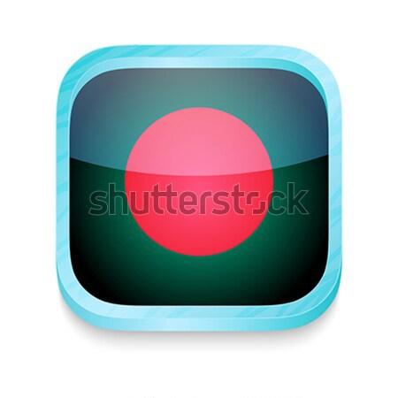Knop Bangladesh vlag telefoon frame Stockfoto © lirch