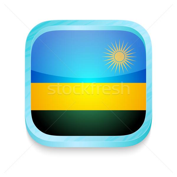 Smart phone button with Rwanda flag Stock photo © lirch
