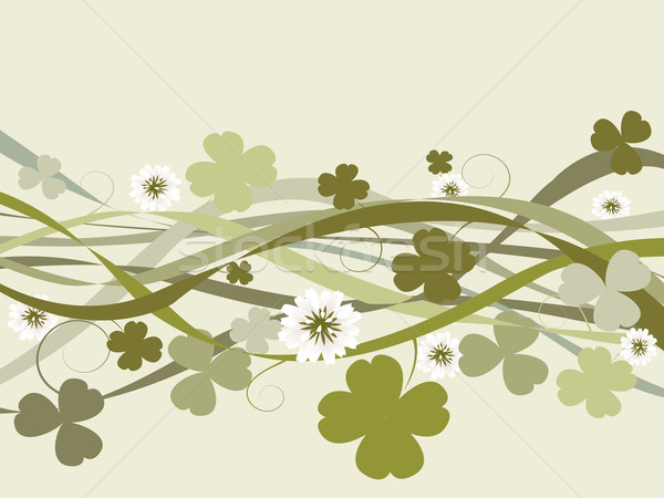Jour de St Patrick design illustration célébration carte printemps Photo stock © lirch