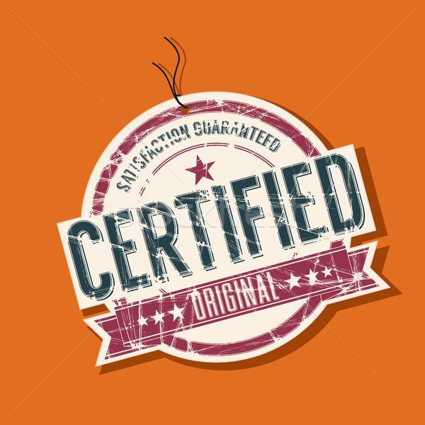 Certificado membro produto vetor projeto retro Foto stock © lirch