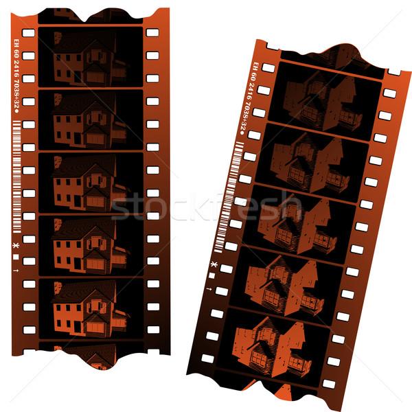 Négatifs blanche texture film design Photo stock © lirch