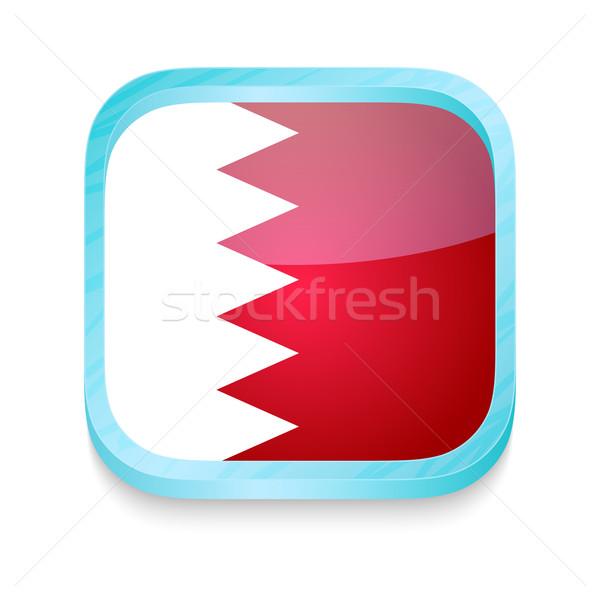 Düğme Bahreyn bayrak telefon çerçeve Stok fotoğraf © lirch