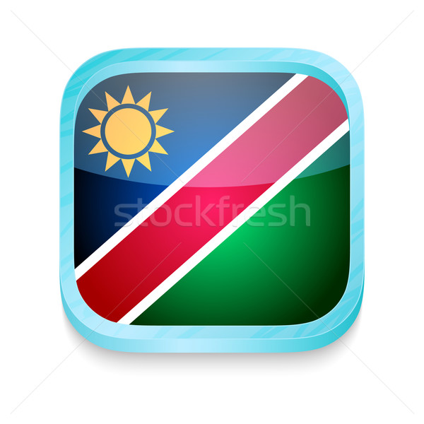 Smart phone button with Namibia flag Stock photo © lirch