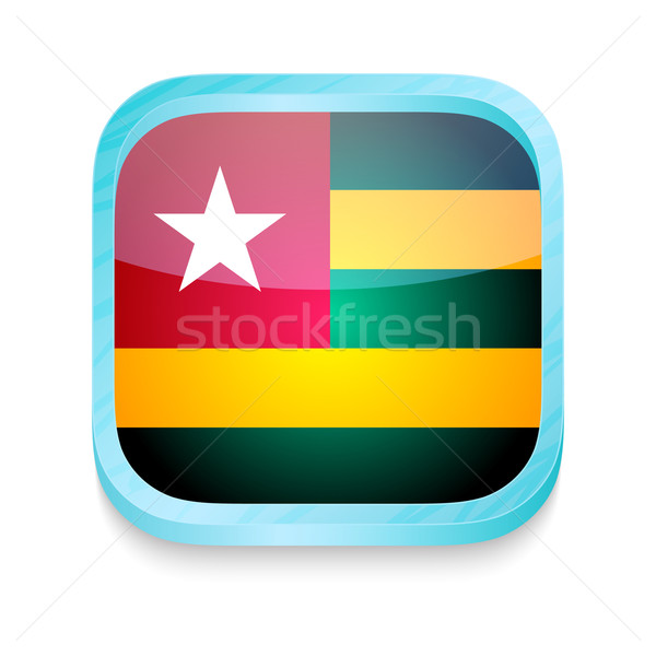 Smart phone button with Togo flag Stock photo © lirch