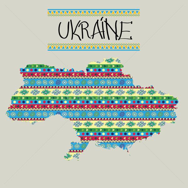 新しい ウクライナ 地図 装飾的な 色 世界 ストックフォト © lirch