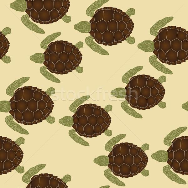 Mare tartarughe pattern nuoto natura Foto d'archivio © lirch