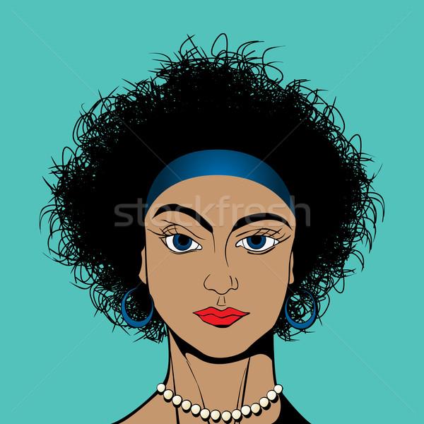 Curly Hair Girl Vector Illustration C Richard Laschon Lirch