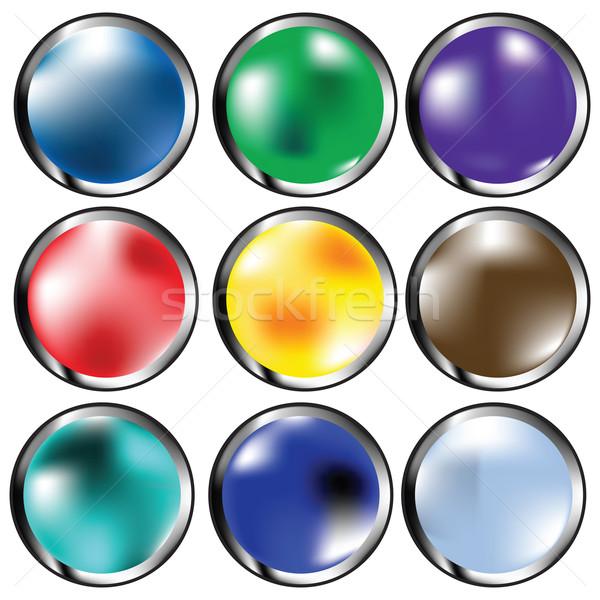 glossy web buttons Stock photo © lirch