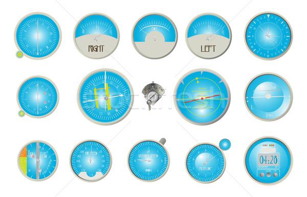 航空機 ダッシュボード コレクション 白 飛行機 規模 ストックフォト © lirch