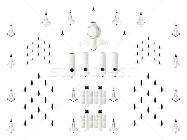 Uzay dizayn elemanları oyunları izole nesneleri beyaz Stok fotoğraf © lirch