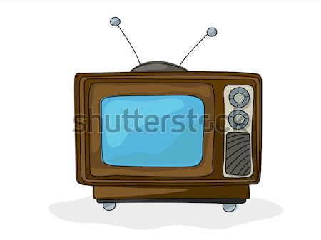 Retro style tv Stock photo © lirch