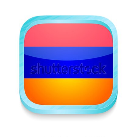 Smart phone button with Gabon flag Stock photo © lirch