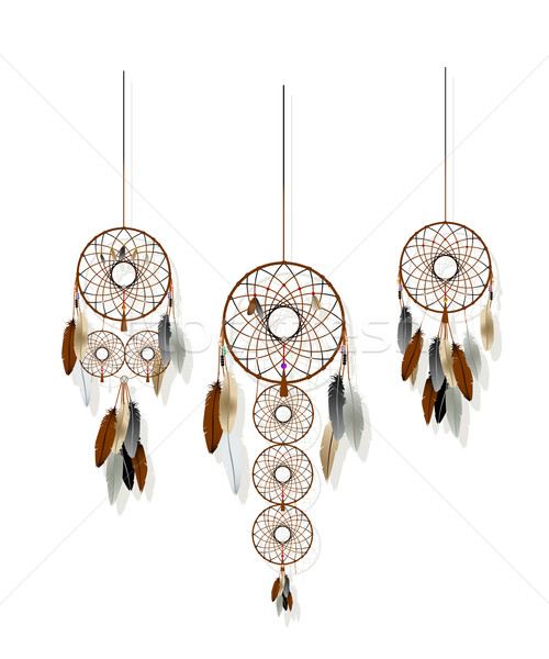 Dreamcatchers set Stock photo © lirch