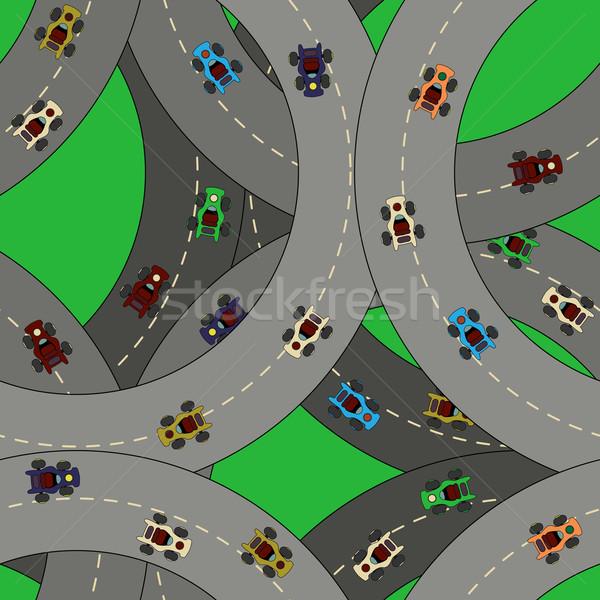 Kart racing pattern Stock photo © lirch