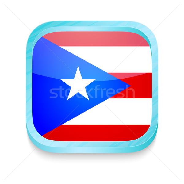 Knop Puerto Rico vlag telefoon web Stockfoto © lirch