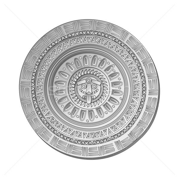 солнце каменные символ белый календаря ювелирные Сток-фото © lirch
