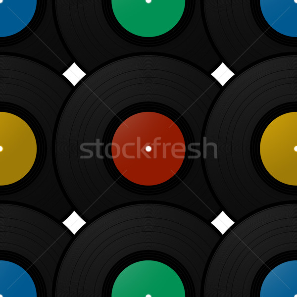 Record schijf patroon vintage ontwerp Stockfoto © lirch