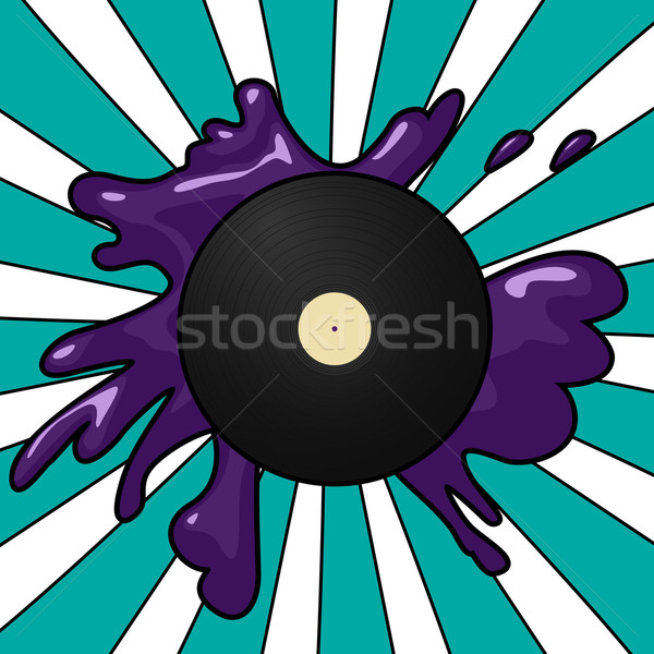 Vinyl pop pop art stijl record Stockfoto © lirch