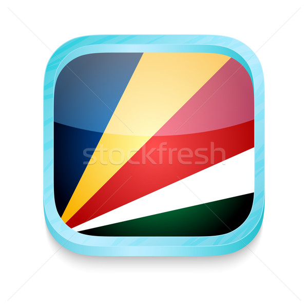 Smart phone button with Seychelles flag Stock photo © lirch
