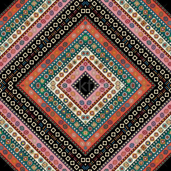 Tribali pattern senza soluzione di continuità disegno geometrico stile texture Foto d'archivio © lirch