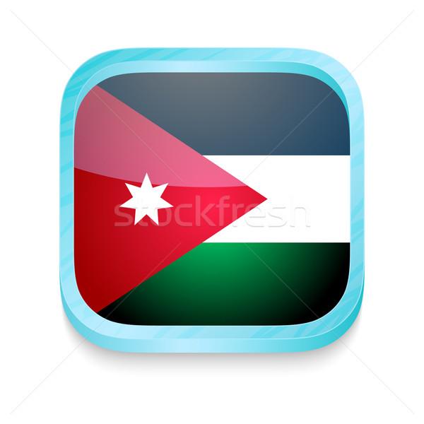 Przycisk Jordania banderą telefonu ramki Zdjęcia stock © lirch