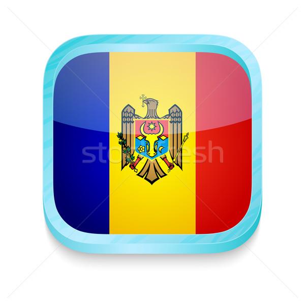 Okostelefon gomb Moldova zászló telefon keret Stock fotó © lirch