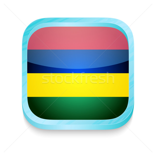 Smart phone button with Mauritius flag Stock photo © lirch