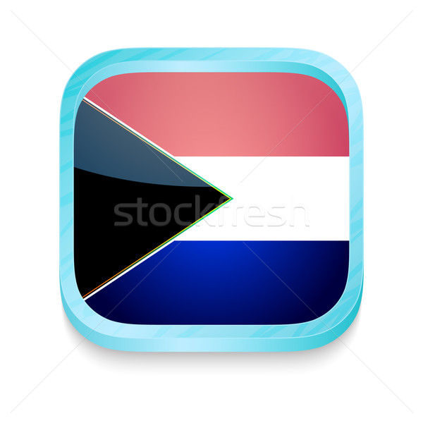 Knop South Africa vlag telefoon frame Stockfoto © lirch