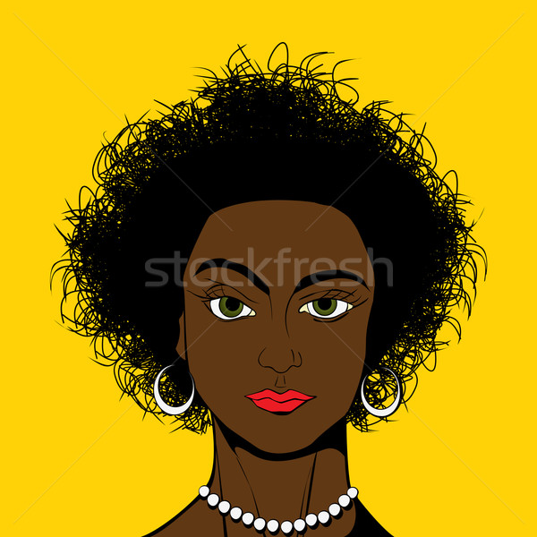 Pop Art style black girl Stock photo © lirch