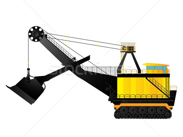 Mining excavator Stock photo © lirch