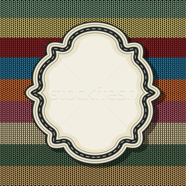 Retró stílus klasszikus címke kötött textúra absztrakt Stock fotó © lirch