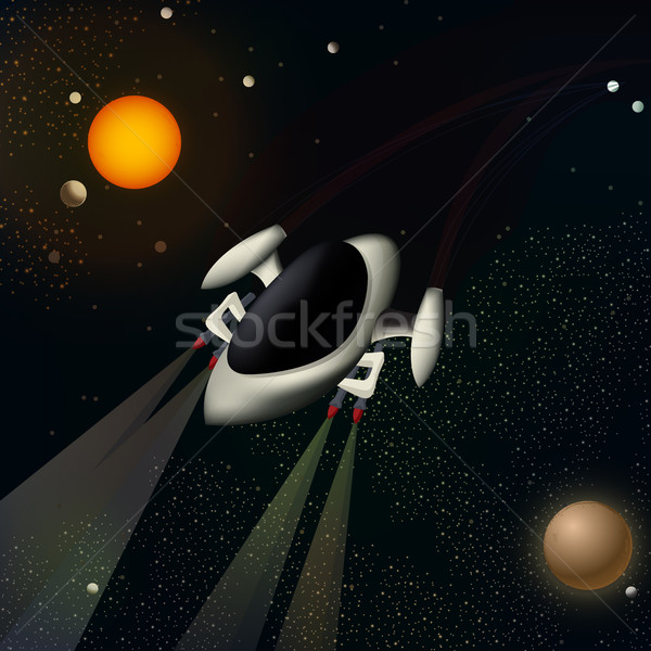 Illustration of a spacecraft Stock photo © lirch