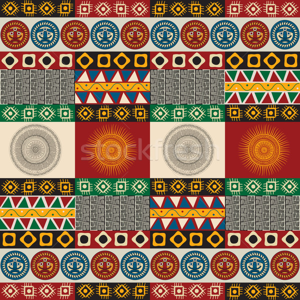 Seamless mayan, aztec pattern Stock photo © lirch